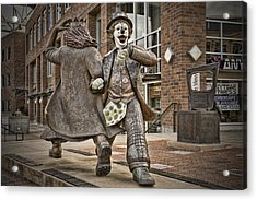 Late For Interurban  Acrylic Print by Joanna Madloch