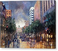 Late Friday Afternoon Showers Acrylic Print