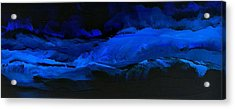 Acrylic Print featuring the painting Late Night High Tide by Linda Bailey