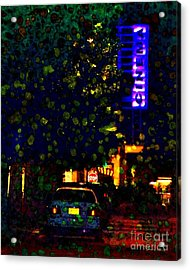 Late Night Movie Acrylic Print by Darla Wood