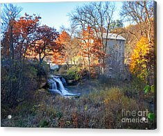 Acrylic Print featuring the photograph Late October At Pickwick Mill by Kari Yearous