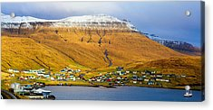 Late Spring In Faroe Islands Panorama Acrylic Print