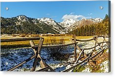 Late Spring Snow At Squaw Acrylic Print by Nancy Marie Ricketts