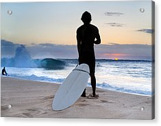 Late Surfer Acrylic Print