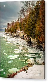 Late Winter At Cave Point Acrylic Print