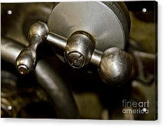 Acrylic Print featuring the photograph Lathe Controls by Wilma  Birdwell