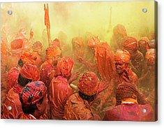 Lathmar Holi Acrylic Print