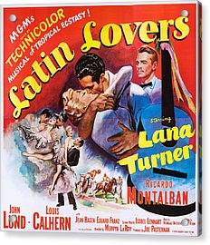 Latin Lovers, Us Poster Art Acrylic Print