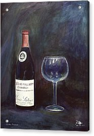 Latour Wine Buon Fresco 3 Primary Pigments Acrylic Print by Don Jusko