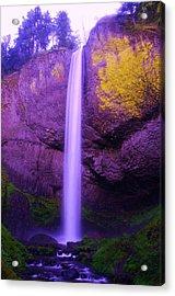 Latourall Falls Acrylic Print by Jeff Swan