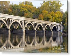 Latsch Island Wagon Bridge Acrylic Print