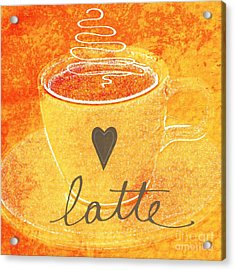 Latte Acrylic Print by Linda Woods