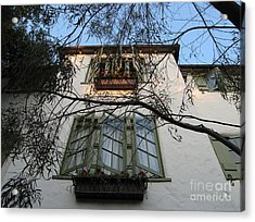 L'auberge Facade Acrylic Print by James B Toy
