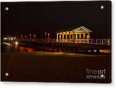 Acrylic Print featuring the photograph Lauderdale Fishing Pier by Les Palenik