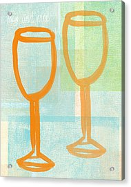Laugh And Wine Acrylic Print