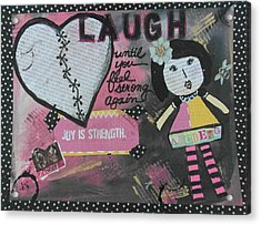 Laugh Acrylic Print by Debbie Hornsby