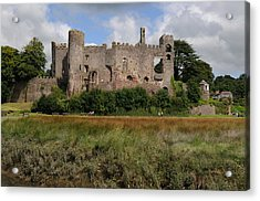 Acrylic Print featuring the photograph Laugharne Castle by Jeremy Voisey