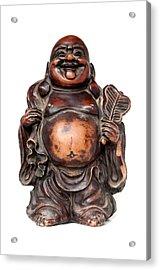 Laughing Buddha Acrylic Print by Fabrizio Troiani