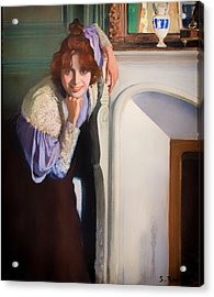 Laughing Lady Acrylic Print by Mountain Dreams