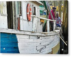 Laughs On A Shrimpboat Acrylic Print by Patricia Greer