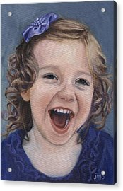 Laughter #15 Acrylic Print by Jean  Smith
