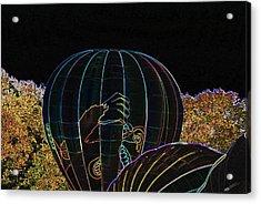 Launching King Kong - Neon Acrylic Print