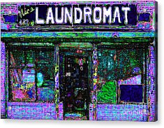 Laundromat 20130731m108 Acrylic Print by Wingsdomain Art and Photography