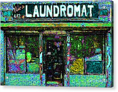 Laundromat 20130731p180 Acrylic Print by Wingsdomain Art and Photography