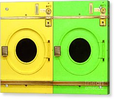 Laundromat Drying Machines Two 20130801a Acrylic Print by Wingsdomain Art and Photography