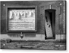 Laundry And Abandoned House Acrylic Print by Dirk Ercken