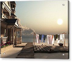 Laundry Day Acrylic Print by Cynthia Decker