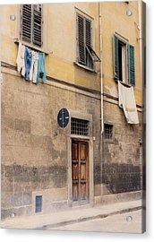 Laundry Day In Verona Acrylic Print by Suzanne Gaff