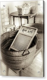 Laundry Day On The Farm Acrylic Print by Julie Palencia