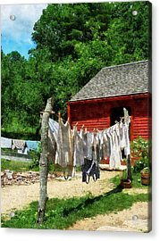 Laundry Hanging On Line Acrylic Print