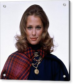 Laura Hutton Wearing Van Cleef & Arpel Necklaces Acrylic Print by Gianni Penati