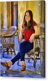 Laura Acrylic Print by Jeff Kolker