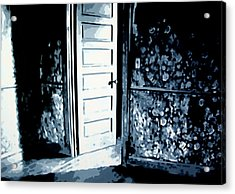 Lauras Painting Acrylic Print by Luis Ludzska