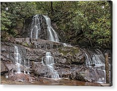 Acrylic Print featuring the photograph Laurel Falls - Great Smoky Mountains National Park by Peter Ciro