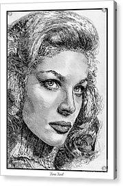 Lauren Bacall Acrylic Print by J McCombie