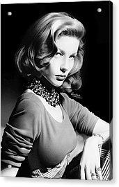 Lauren Bacall Acrylic Print by Liam  York