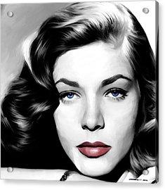 Lauren Bacall Large Size Portrait Acrylic Print