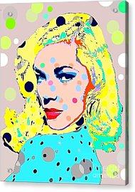 Lauren Bacall Acrylic Print by Ricky Sencion