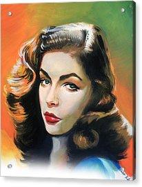 Lauren Bacall Acrylic Print by Robert Korhonen
