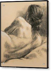 Lauren's Back Muscles Acrylic Print