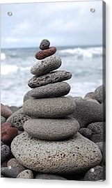 Acrylic Print featuring the photograph Lava Cairn by Jani Freimann