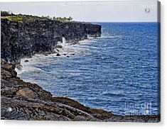 Acrylic Print featuring the photograph Lava Cliffs by Gina Savage