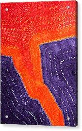 Lava Flow Original Painting Acrylic Print