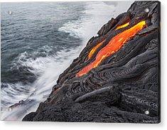 Lava Acrylic Print by Henryk Welle