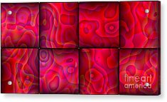 Lava Lamp Abstract 1  By Saribelle Rodriguez Acrylic Print by Saribelle Rodriguez
