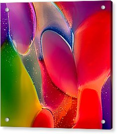 Acrylic Print featuring the photograph Lava Lamp by Omaste Witkowski